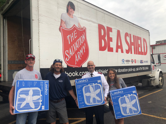 Salvation Army Fan Drive Brings Cool Relief to River Valley Residents