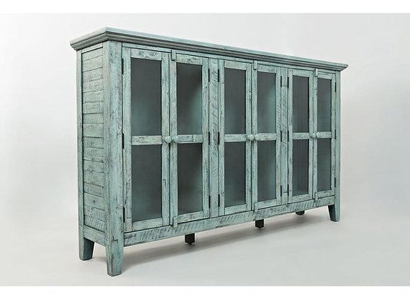 Rustic Shores Accent Cabinet (Vintage Blue)