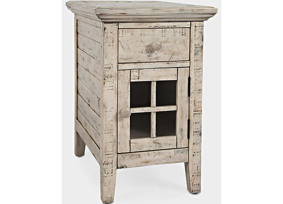 Power Accent Table (Weathered White)