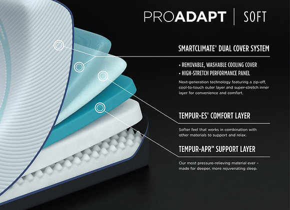 Temp Pro-Adapt Soft Mattress Cutaway