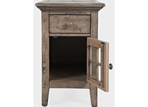 Powered Accent Table (Weathered Grey)