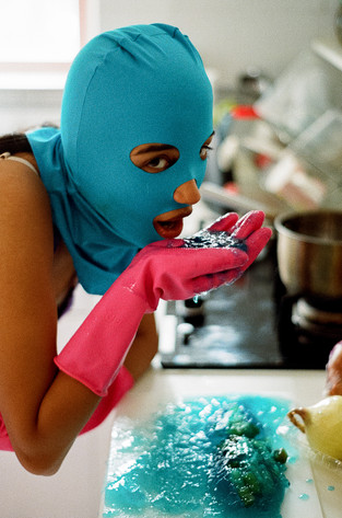 """""""Blue Eating Broken Blue Rasberry Jello Out Of Hand"""""""