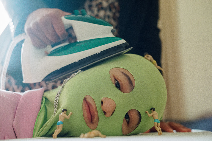 """""""Green's Head Being Ironed With Little Men Staring At You"""""""