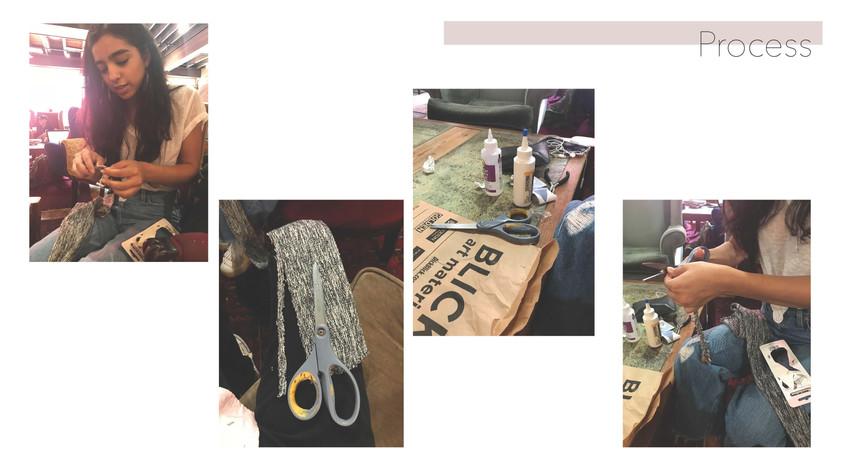 Process of making the mock Ryan Roche bracelet