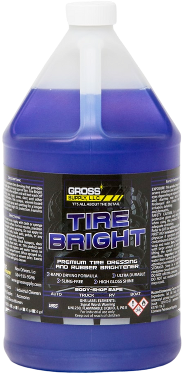 Tire Bright : Solvent-based tire dressing