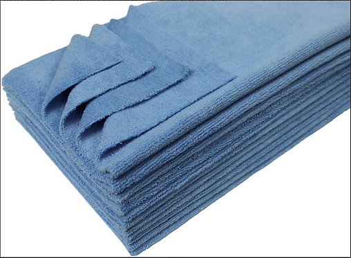 "Microfiber Towel, 16""16"", 12pk, blue"