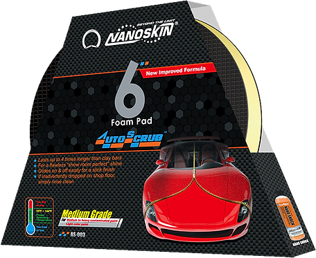 "Nanoskin AUTOSCRUB 6"" Medium Grade Foam Pad for DA Polisher"