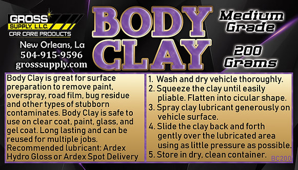 Body Clay, medium grade, 200 grams