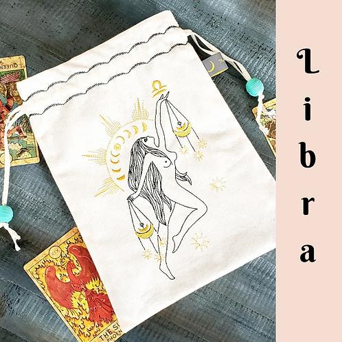 Libra Drawstring Bag