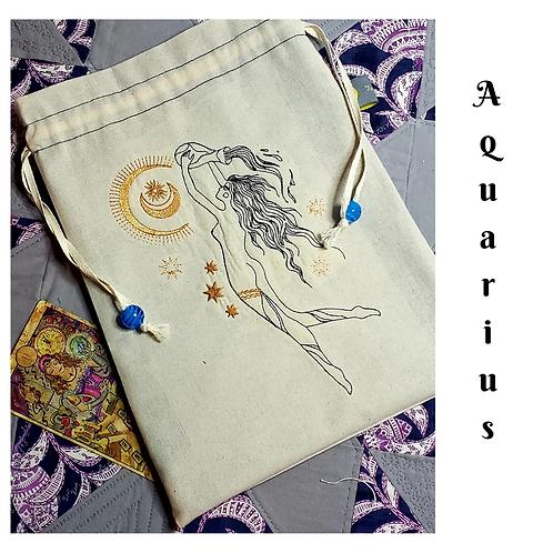 Aquarius Drawstring Bag