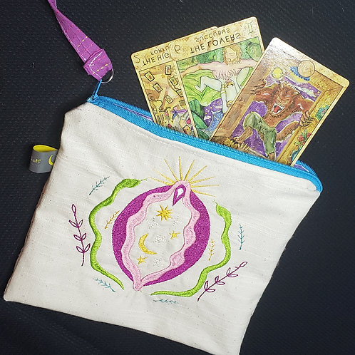Sacred Vagina Zipper Bag