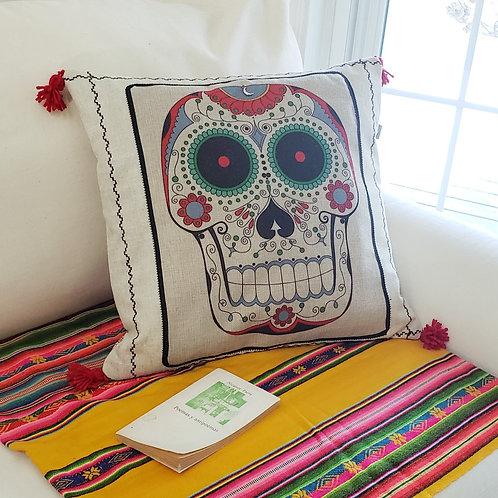 Sugar Skull Handmade Cushion Cover