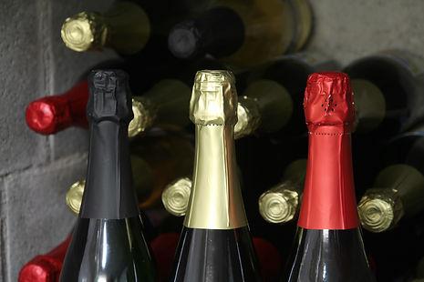Tricolore ensemble wijnflessen