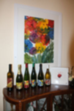 Jean-Marie De Pauw aquarellist -etiketten - Domein Pot de Vin