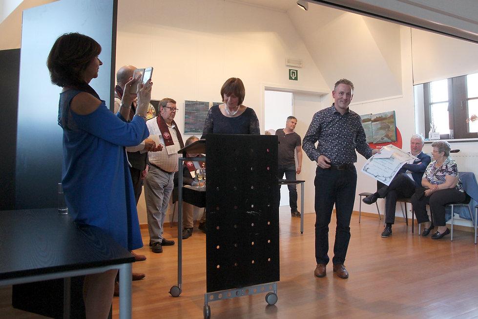 Domein Pot de Vin op de prijsuitreiking 2019 - Beste Brabantse Wijn - zilveren medaille - beste rode wijn