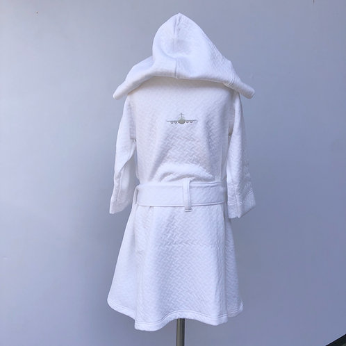 QUILTED PIMA ROBE