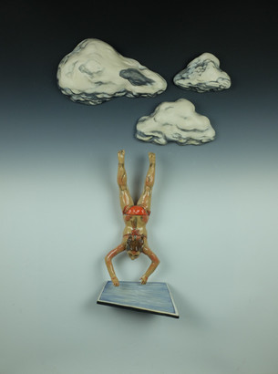 Diver with Cloud and Pool