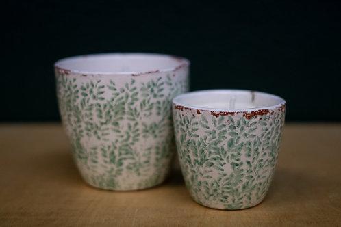 Vela cerámica exterior