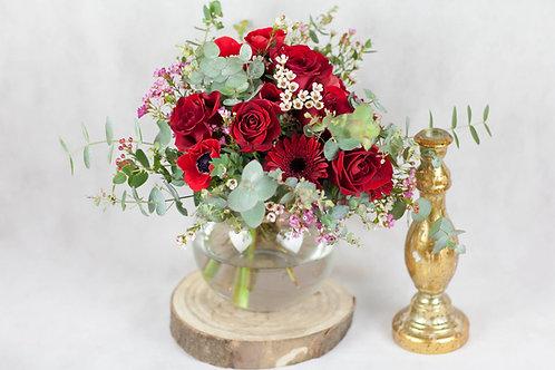 Bouquet de Rosas y cristal