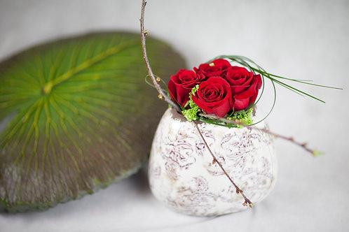 Detalle de 5 rosas