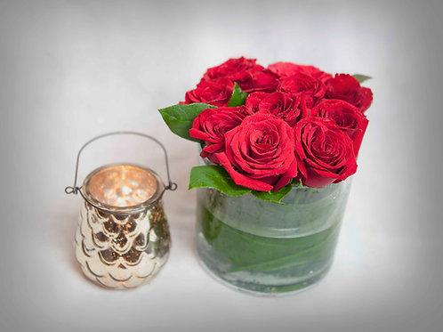 Rosas Rojas en base