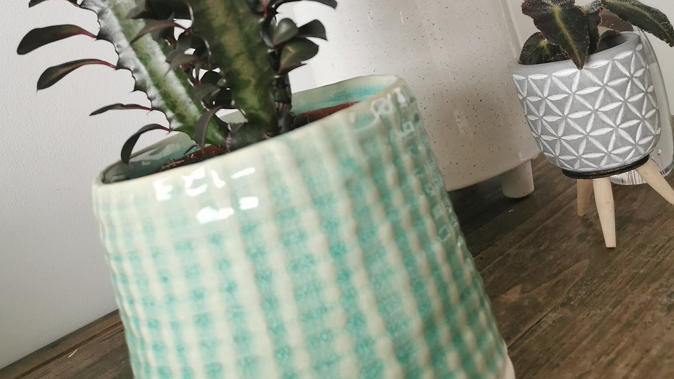 Groen/blauwe sierpot