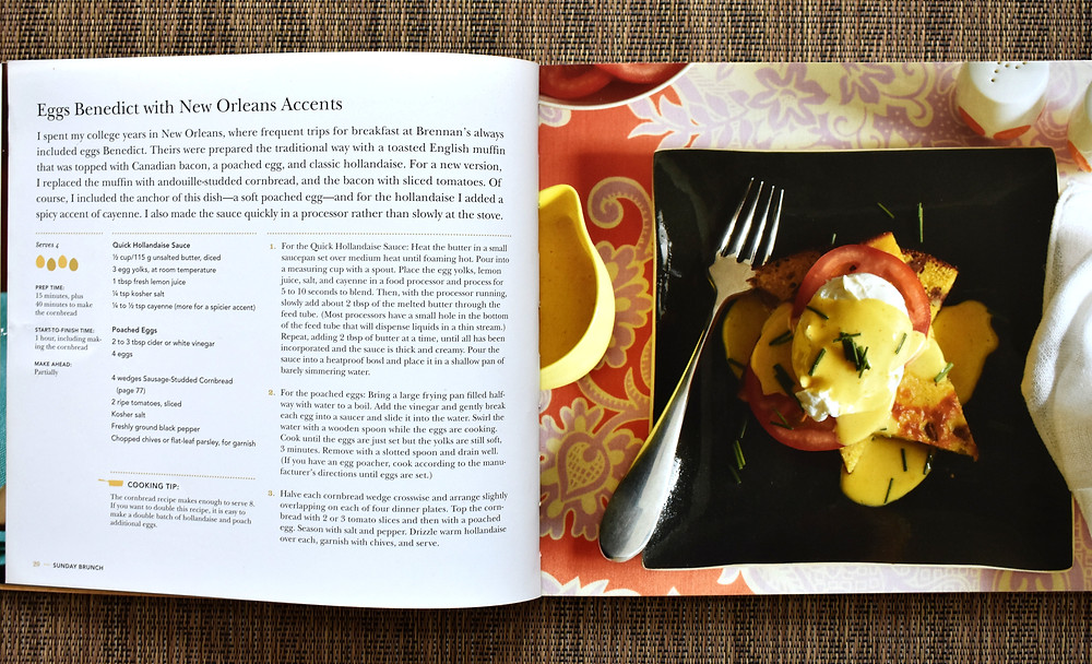 Eggs benedict with new orleans accents from Sunday Brunch cookbook