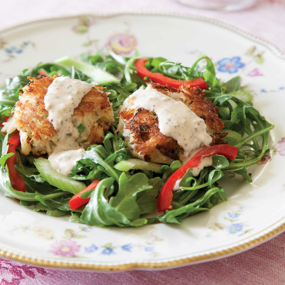 crabcake salad from southern lady magazine
