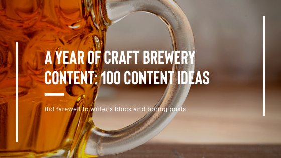 craft beer social content