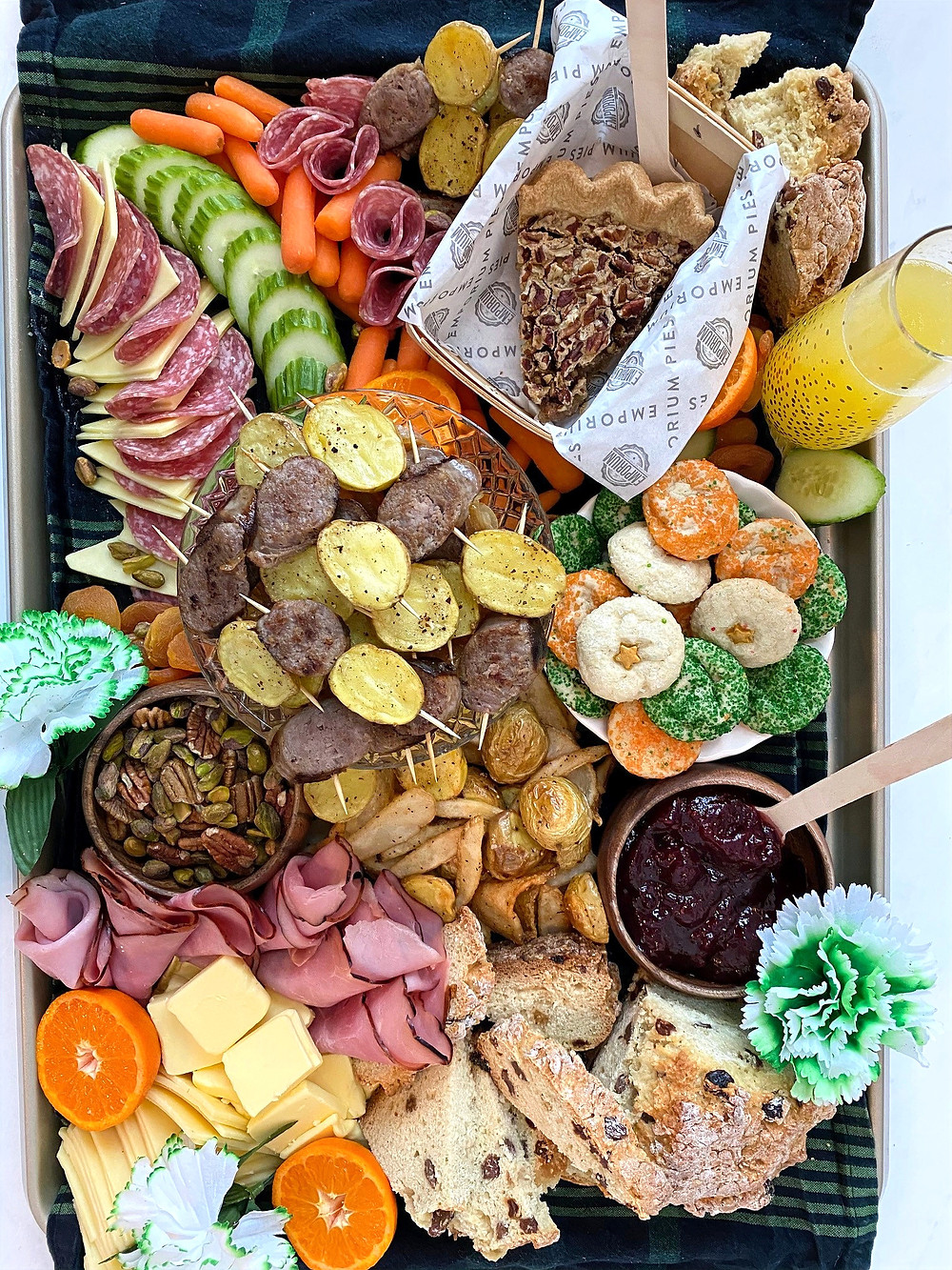 off main brewing | saint patrick's day | snack platter board
