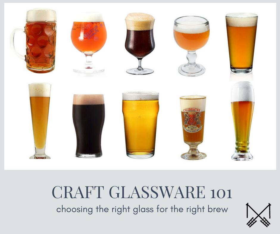 craft beer glassware 101