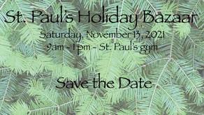 St. Paul's Holiday Bazaar November 13, 2021