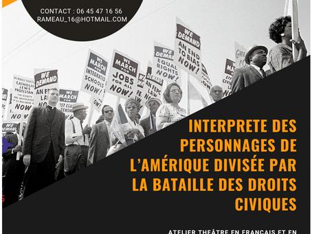 On adore : Un atelier de l'Acteur sans frontières autour de la bataille des droits civiques aux USA