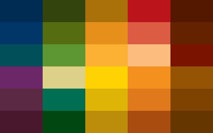 Rich & Earthy - Colour Card | Colourisma, Christchurch NZ