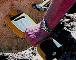 hand-held tool in log