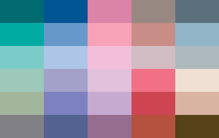 Soft & Dusty - Colour Card | Colourisma, Christchurch NZ