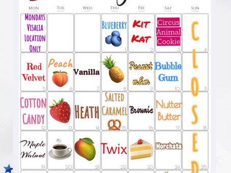 July Flavor Board
