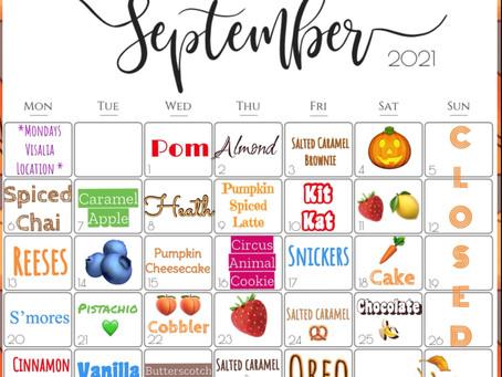 September Flavor Board!