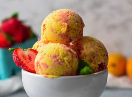Mango Strawberry Ice Cream Wednesday!