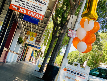 Happy ONE year in business Downtown Visalia!🍊