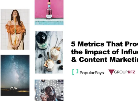 5 Metrics That Prove the Impact of Influencer & Content Marketing