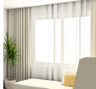 Continuous width curtain