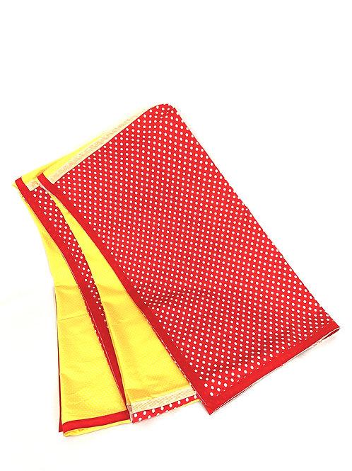Toalha Vermelha e Amarela