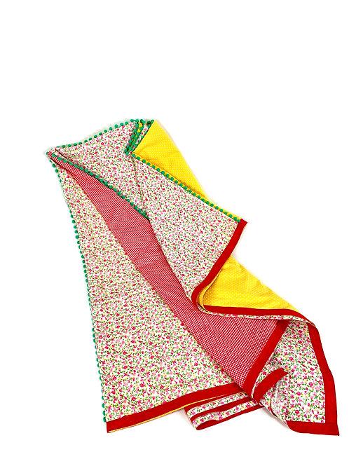 Toalha PicNic vermelho e amarelo