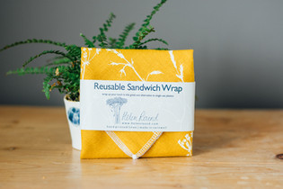 HELEN ROUND Linen Sandwich Wrap Mustard