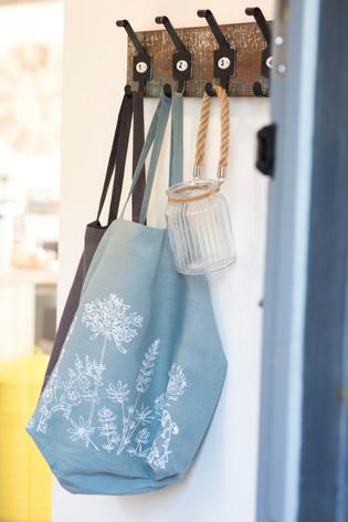 HELEN ROUND Linen Slouch Bags