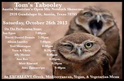 Tom's Tabooley 10-26-13