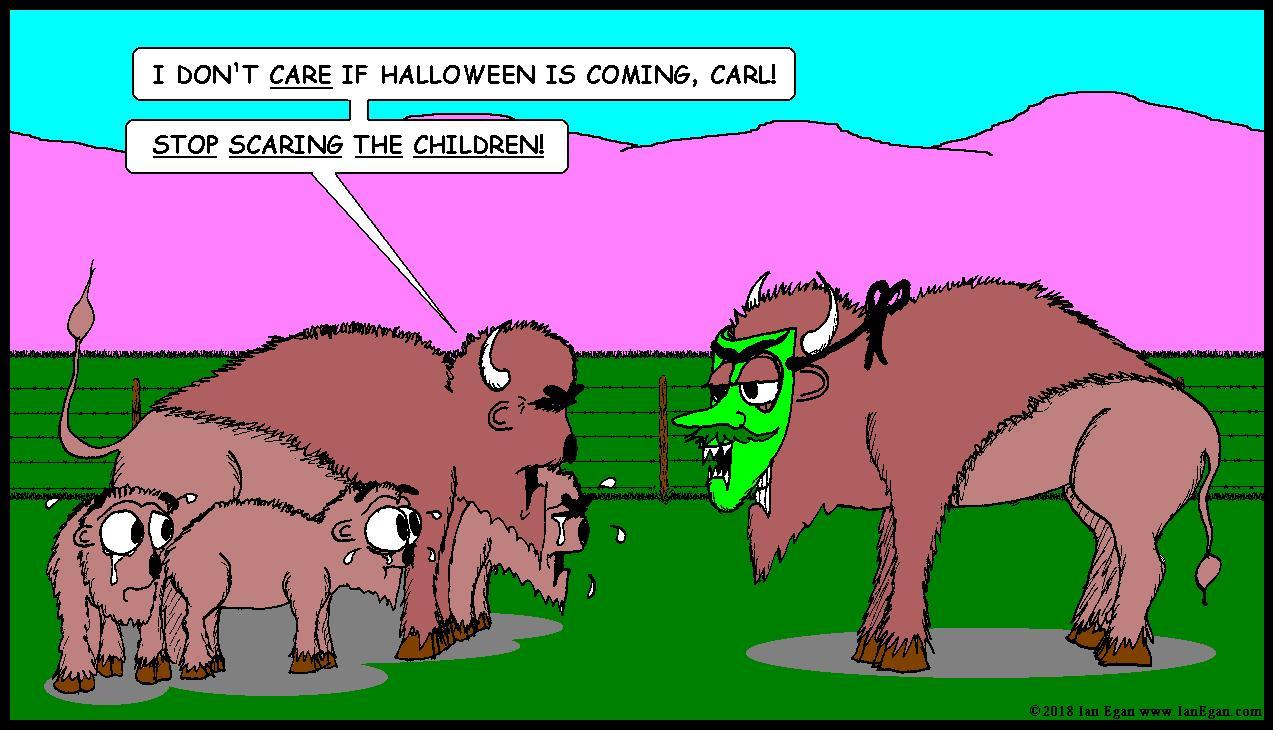 Halloween Bison