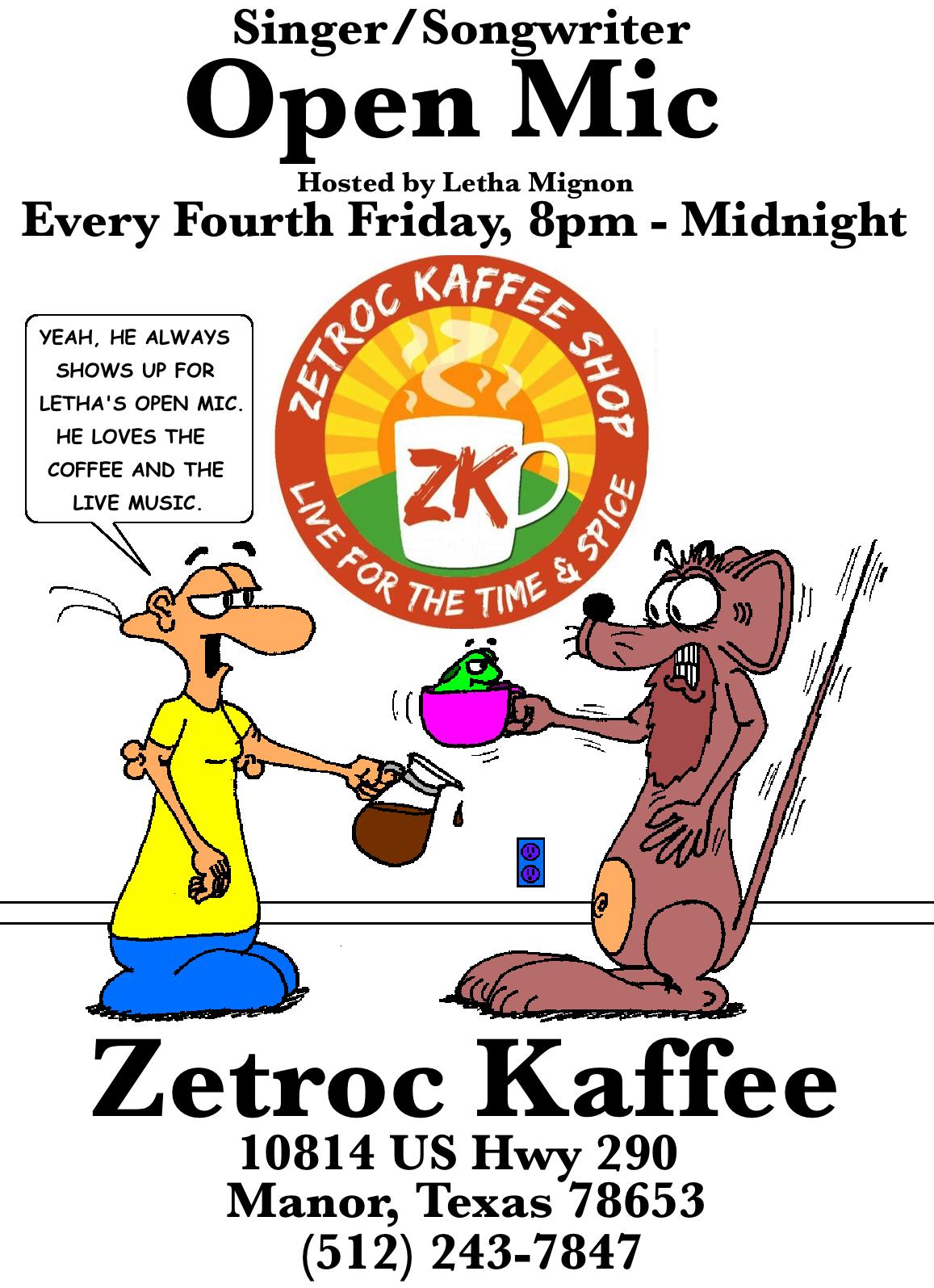 Zetroc Open Mic Poster