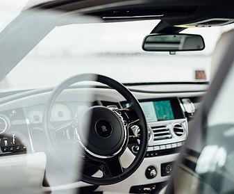 Interior do carro de luxo